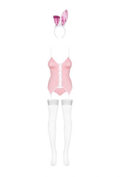 Rosa Bunny Kostüm mit Strümpfen
