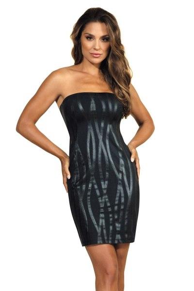 Trägerloses Abendkleid in schwarz