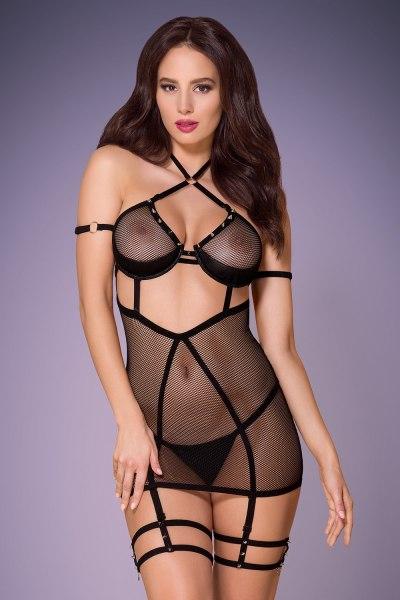 Netzkleid Miramas mit Nieten