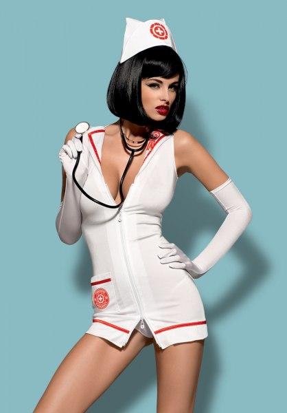 Krankenschwester Minikleid Set
