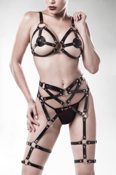 Kunstleder Harness-Set